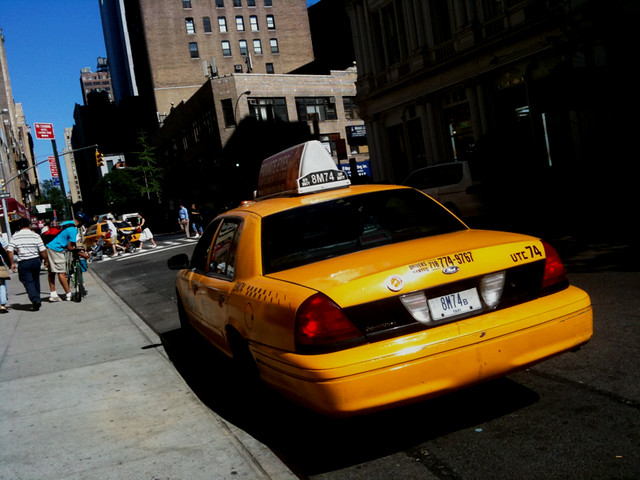 sunny taxi action #walkingtoworktoday