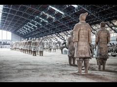 Last man standing (Kaj Bjurman) Tags: china man standing army eos terracotta xian 5d hdr kaj cs4 photomatix bjurman