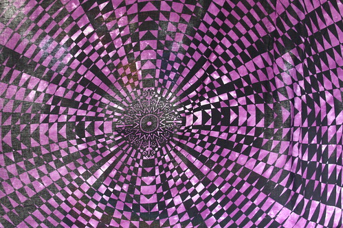 Purple Geometric Textile