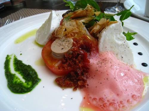 Caprese Salad - Momotaro & Buffalo Mozarella @ Pamplemousse