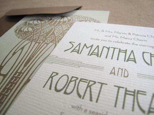 And Kathleen   Wedding Invitation: Earthy Art Nouveau Deux