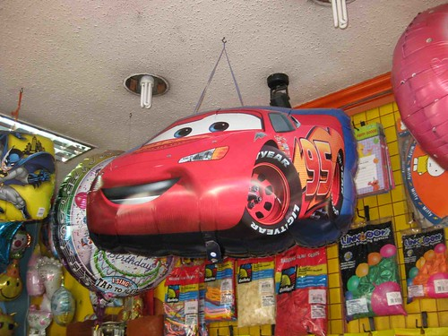 balloons cars