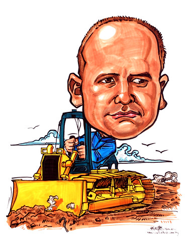 Caricatures for NUS - bulldozer