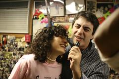 Fake Karaoke (thirtyoneteeth) Tags: alexis nyc newyorkcity jason lowereastside sammys flybutter sammysroumaniansteakhouse