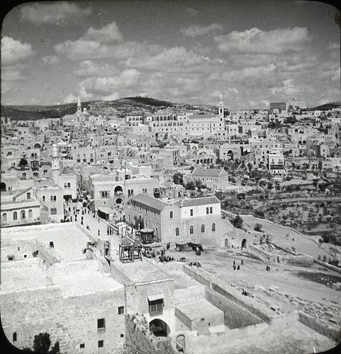 Birdseye View of Bethlehem from the Church of the Nativity