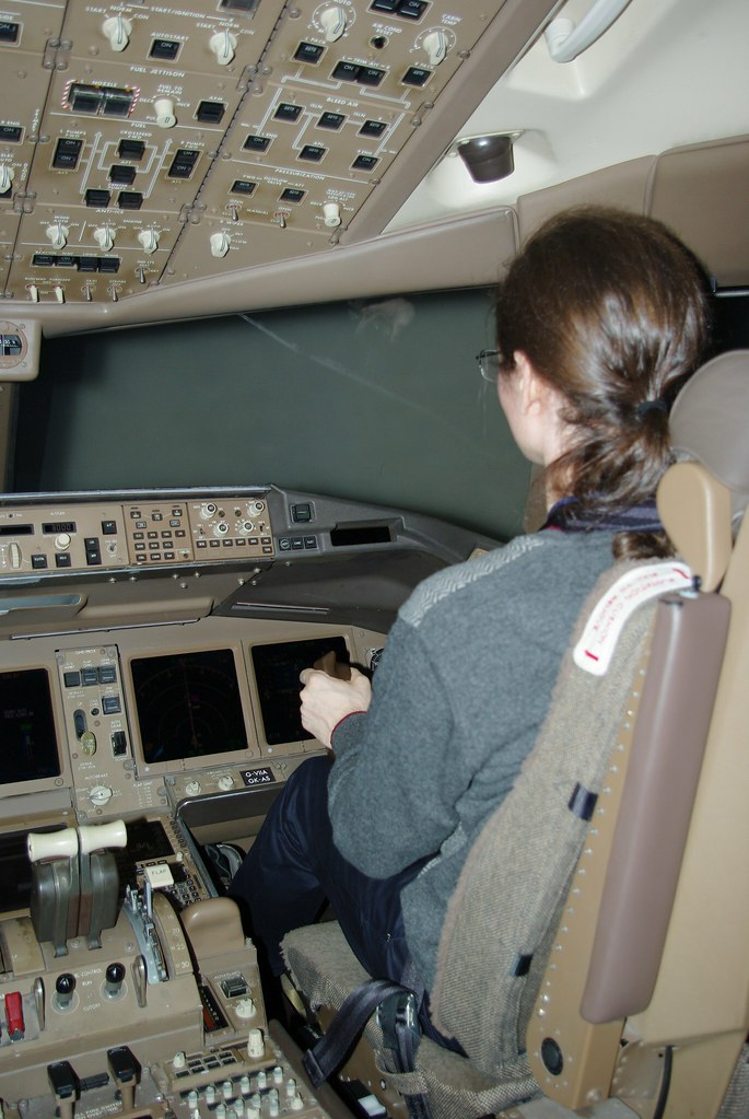 Me at the controls