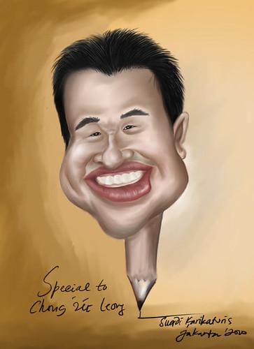 jit caricature by caricaturist Suardi