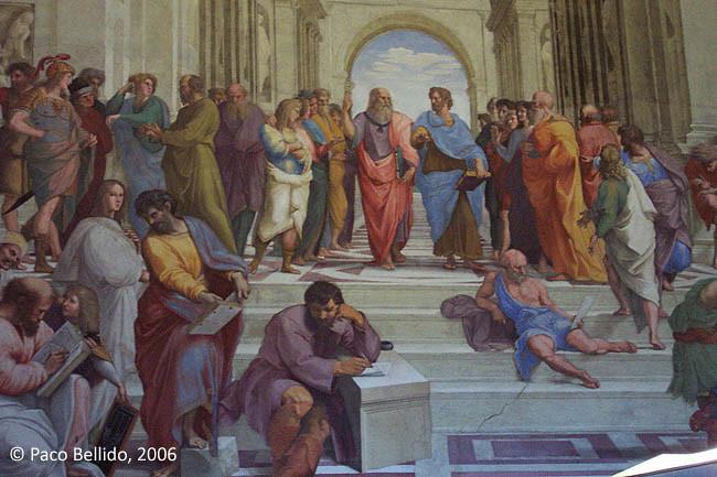 La Escuela de Atenas (detalle). © Paco Bellido, 2004
