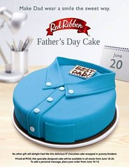 Red Ribbon Father's Day Cake