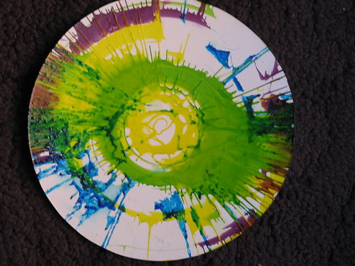 Twirl Paint Art from a little friend