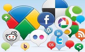 Social Media Balloons Icons