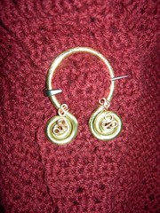 Brass & copper shawl pin