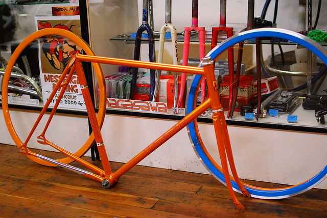 mobius Keirin Orange Rims