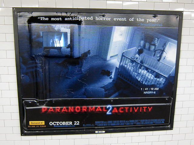 Paranormal Activity 2 Billboard With Embedded Video Display