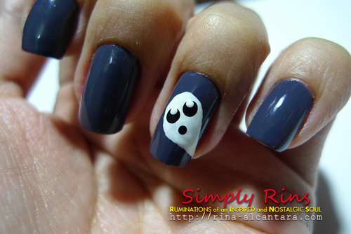 Nail Art Halloween Ghost 02