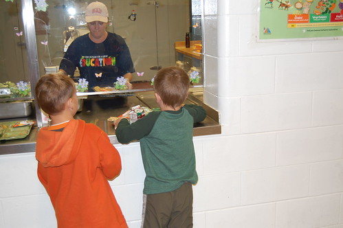 Leeds Central School Food Service Staff serve healthy lunches to 187 students daily.