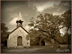 Bandera Texas Frontier Church (iveytrails) Tags: history cowboys buildings texas country scenic churches bandera texashillcountry countrychurches pollyschapel historicchurchs iveytrails