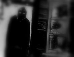 door red white black eye halloween monochrome dead fear ghost haunted spooky hood undead haunt fright specter