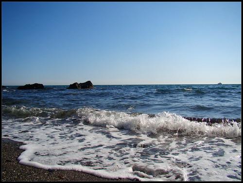 Orilla del mar en Benalmadena