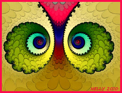 *Look... (MONKEY50) Tags: pink blue red orange abstract black color colour green colors yellow digital chaos colours fractal paintshoppro fractals beautifulphoto colourartaward platinumpeaceaward