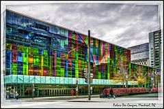 Palais des Congres, Montreal (Tim Moffatt) Tags: travel favorite canada color photography high colorful artistic quebec montreal extreme creative tourist canadian elite oldmontreal fabulous enhanced hdr highdynamicrange 2010 topaz travelphotography iamcanadian photomatix exceptionally tonemapping tonemap photmatix hdrextremes extremehdr elitephotography hdrcanada