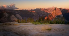 Last light (gcquinn) Tags: sunset red geoff east valley yosemite quinn halfdome geoffrey cloudsrest sentineldome northdome naturesfinest
