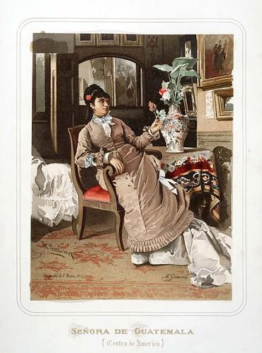 013-Señora de Guatemala-Las Mujeres Españolas Portuguesas y Americanas 1876-Miguel Guijarro