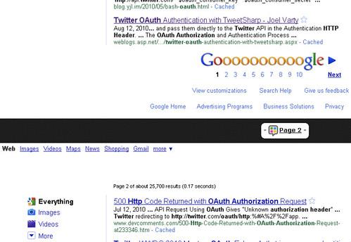 Google Pagniation