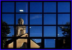 Le Clarisse (meghimeg) Tags: blue reflection glass blu rapallo explore auditorium clarisse vetro riflesso 2011 colorphotoaward