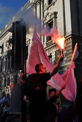 Flares (Stationary Nomads) Tags: england people money students demo student education university rally crowd banner central protest trafalgarsquare parliament bigben demolition demonstration parliamentsquare government coalition ual crowds whitehall cuts nus ulu flares lse tory placards conservatives megaphone fees tuition chant debt chanting liberaldemocrats libdems londonschoolofeconomics uol universityoflondon davidcameron ucu universityoflondonunion nickclegg nationalunionofstudents universityofartslondon fundourfuture demo2010