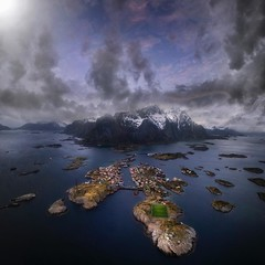 The Field (Jay Daley) Tags: henninsvar norway football field mountain drone dji phantom4pro aerial lofoten