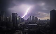 Lightning Over Makati (BenMode) Tags: light lightning makati sky storm night thunder electric