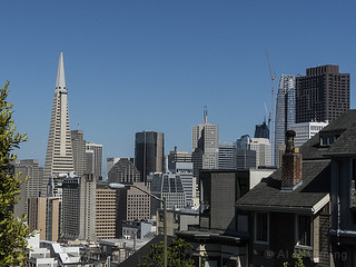 SF Skyline from Russian Hill b5909n