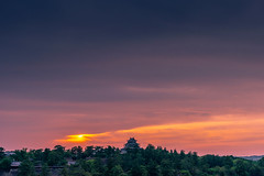 sunset 7294 (junjiaoyama) Tags: japan castle frickr historic old heritage sunset sky light sun cloud weather landscape orange blue contrast colour bright summer