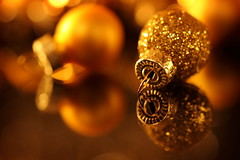 baubly:  356/365 (helen sotiriadis) Tags: christmas orange holiday macro reflection glass yellow closeup glitter canon gold shiny published dof bokeh decoration balls depthoffield ornament 365 canonef100mmf28macrousm canoneos40d toomanytribbles