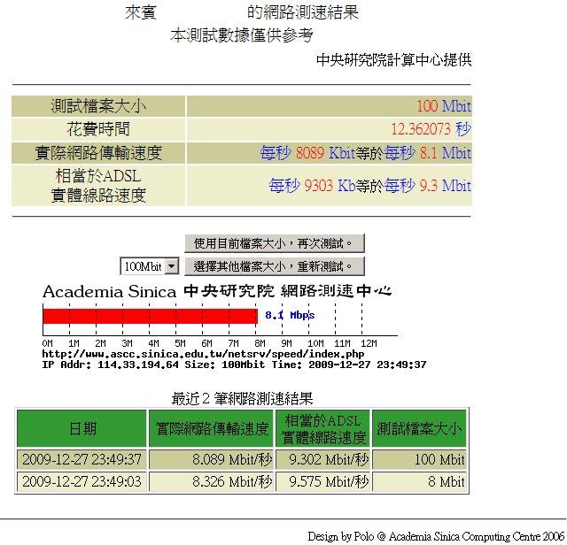 電腦上網速度 - 2009-12-27_235505