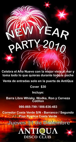New Year Party 2010 - Antiqua Disco Club