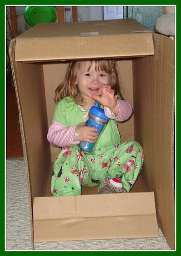 Naturally, she loves the box