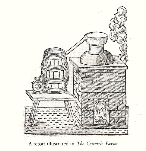 A retort illustrated in 'The Countrie Farme'