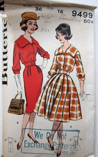 Vintage Butterick 9499 Shirtdress