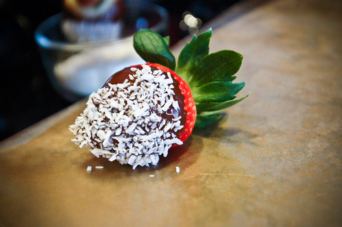 Coconut/chocolate covered strawberries