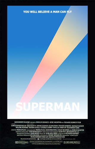Superman: The Movie poster redesign