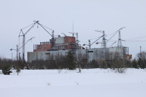Unfinished reactors 5 and 6 at the Chornobyl Nuclear Power Station
