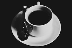The Mid-Morning Blend ([museopath]) Tags: blackandwhite coffee 50mm f14 brunch ilustrado iknowivebeenpostingalot museopathinc