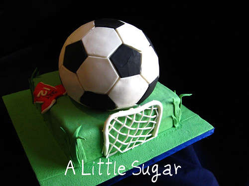 Soccer ball cake backside
