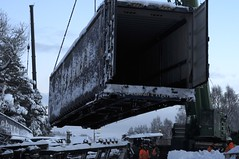 _DSC9342 Eddie Stobart Freight Trail Rail Railway Derailment Carrbridge (Aaron Sneddon Photography & Aerial Photographer) Tags: snow media stock aviemore carrbridge derail derailment snowtrain eddiestobart railcrash railwaycrash