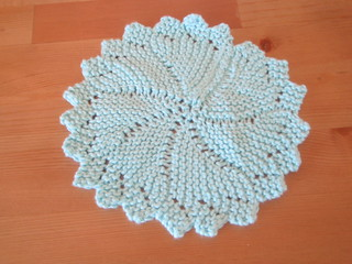 Knitted Circular Dishcloth Patterns : Ravelry: Knitted Round Dishcloth pattern by Mielkes Fiber Arts
