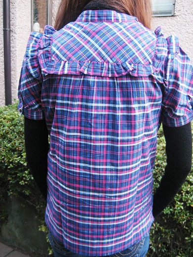 PLAID RUFFLE BLOUSE from MARC by Marc Jacobs