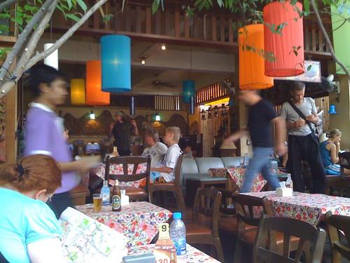 カオサンのカフェ