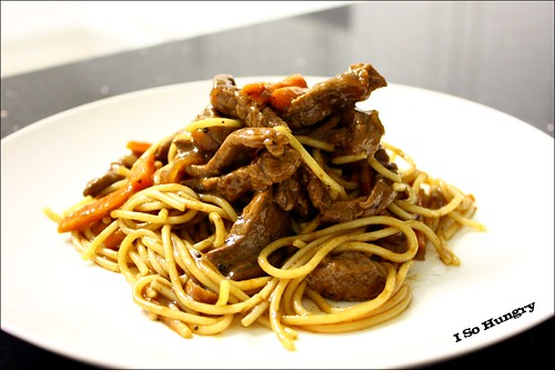 Beef Spaghetti with Black Pepper Sauce